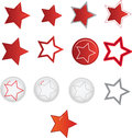 Star shape vector illustration of the shapes Royalty Free Stock Photo