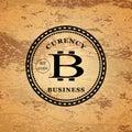 Star shaped bitcoin logo