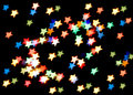 Star-shaped christmas lights Royalty Free Stock Photo