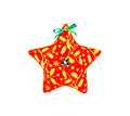 Star shaped Christmas ornament isolated on white background Royalty Free Stock Photo