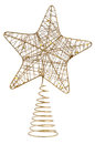 Star shaped Christmas ornament on white background Royalty Free Stock Photo