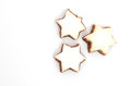 Star shaped cinnamon cookies Stock Photography