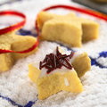 Star Shaped Cookie with Chocolate Sprinkles Royalty Free Stock Photography