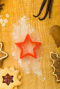 Star shaped cookie cutter Stock Photos
