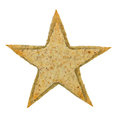 Star shaped cookie isolated on white background Stock Photography