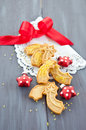 Star-shaped cookies for christmas Royalty Free Stock Photos
