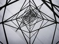 Star shaped electricity pylon Royalty Free Stock Photo