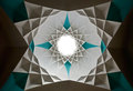 Star Shaped Islamic Design of Ceiling Stock Photos