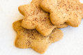 Star shaped shugar cookies close up on a white background Royalty Free Stock Photo