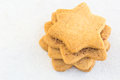 Star shaped shugar cookies close up on a white background Stock Photography