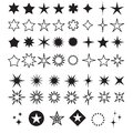 Star Shapes Symbol Icon Vector Illustration. Sparkles, shining burst Royalty Free Stock Photo