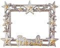 Star silver frame Stock Photos