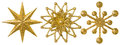 Star Snowflake Christmas Decoration Ornament, Xmas Gold Ornate Royalty Free Stock Photo