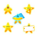 Star stickers Stock Images
