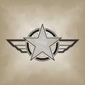 Star symbol on crumple paper illustration of Stock Photo