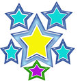Star t shirt design can be use as print on or apparel or clothing Stock Images