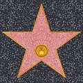 Star Television receiver (Hollywood Walk of Fame) Royalty Free Stock Photo