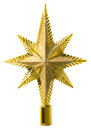 Star Top Decoration, Christmas Tree Topper, White Isolated Royalty Free Stock Photo