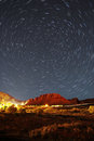 Star trails over snow canyon utah minute exposure of polaris the north the rotation of the earth creates these gorgeous in Stock Images