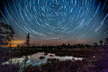 Star Trails (Torrance Barrens Dark-Sky) Royalty Free Stock Photo