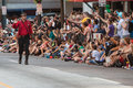 Star Trek Character Waves To Fans At Dragon Con Parade Royalty Free Stock Photo