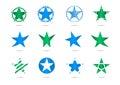Star vector logos Royalty Free Stock Photo