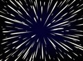 Star Warp or Hyperspace with free space in the center, light of moving stars concept. Royalty Free Stock Photo