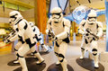 Star wars at singapore changi airport exhibition for the force awakens new movie event held between nov to jan Stock Photos