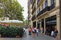 Starbucks coffee in barcelona spain june unidentified people walking front of a on a boulevard spain on june Stock Photos