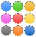 Starburst / badge shapes Royalty Free Stock Photo