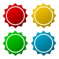 Starburst, badge shapes Royalty Free Stock Photo