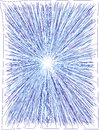 Starburst a detailed hand drawn blue vector use it whole or cut it up to your desire as a concept for velocity explosions or place Stock Photo