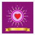 Starburst heart - Illustration Royalty Free Stock Photo