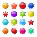 Starburst shape stickers