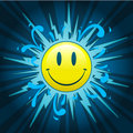 Starburst with smiley face Royalty Free Stock Photo