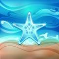 Starfish on the beach vector