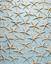 Starfish Blue Wood Background Royalty Free Stock Photo