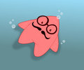 Starfish an illustration of done by software Royalty Free Stock Photo