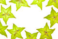 Starfruit (carambola) slices Royalty Free Stock Photos