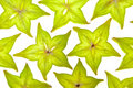 Starfruit (carambola) slices Royalty Free Stock Image