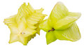 Starfruit or carambola viii over white background Royalty Free Stock Photography