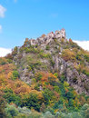 Starhrad Strecno castle in autumn