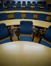 Staring into a sea of chairs in a conference room Royalty Free Stock Image