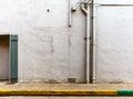 Stark city street wall Royalty Free Stock Photo