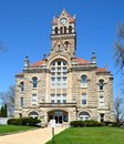 Starke county courthouse this is a spring picture of the in knox indiana the was designed by the architects wing Royalty Free Stock Photo