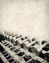 Starkes Grunge Gewicht-Training Stockfoto