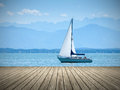 Starnberg lake in germany an image of the Royalty Free Stock Photos