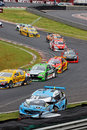 Starostik Racing Car Accident Interlagos Brazil Stock Photos