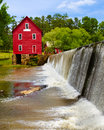 Starrs mill a historic landmark near atlanta georgia Stock Image