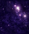 Starry background of stars and nebulas Royalty Free Stock Image